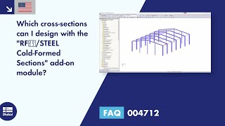 "FAQ 004712 | Which cross-sections can I design with the ""RF‑/STEEL Cold-Formed Sections"" add-on module?"