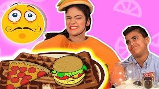  فوزي موزي وتوتي   مع المندلينا   تحدي الوافل The Waffle Challenge