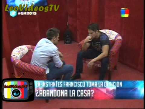 Francisco decide si abandona o no la casa GH 2015 #GH2015 #GranHermano