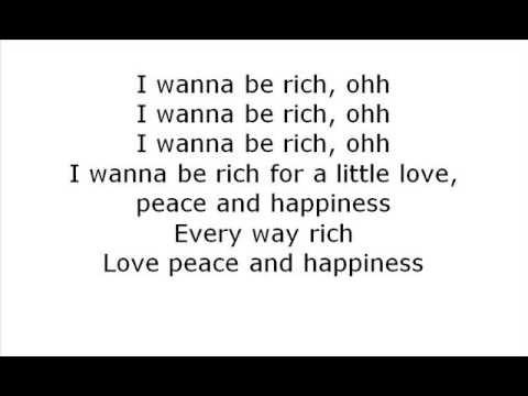 Calloway - I Wanna Be Rich [On Screen Lyric]