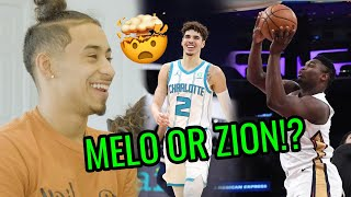 Julian Newman Chooses Between LaMelo's Followers & Zion's Bounce! OFFICIAL Would You Rather 😂