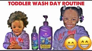 TODDLER WASH DAY ROUTINE..AUSSIE KIDS 3 IN 1 SHAMPOO, CONDITIONER AND BODY WASH