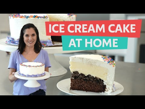 How to Make and Decorate an Ice Cream Cake at Home | Oreo Cookie Flavor | You Can Cook That