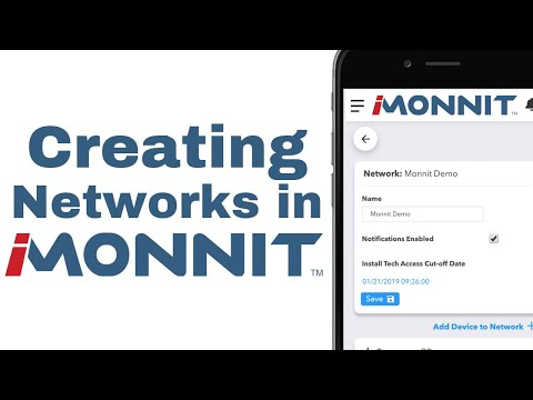 creating networks on iMonnit