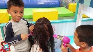 น้องบีม | เปิดร้านเสริมสวยทำผมให้แม่บี เล่นสวนสนุก Kidzoona วีสแควร์นครสวรรค์