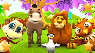 Learn Farm Animals and Animals Sounds | Nursery Rhymes & Kids Songs