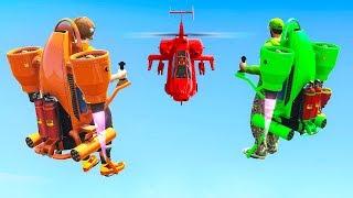 INSANE JETPACKS vs. HELICOPTERS! (GTA 5 Minigames)