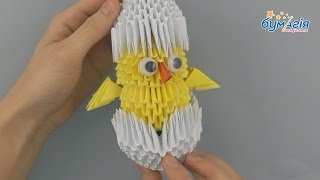 """Набор для творчества ЗD оригами """"Цыпленок в скорлупе"""" от компании Интернет-магазин """"Радуга"""" - школьные рюкзаки, канцтовары, творчество - видео"""