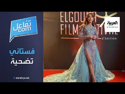 العرب اليوم - شاهد: الفنانة ستيفاني صليبا تضحي بفستان من أجل الجمهور