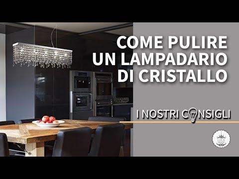 Come pulire un lampadario di cristallo