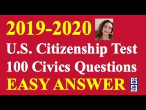 2020 Easy Answer Citizenship Questions Practice! - YouTube
