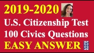 2019 Easy Answer Citizenship Questions Practice!