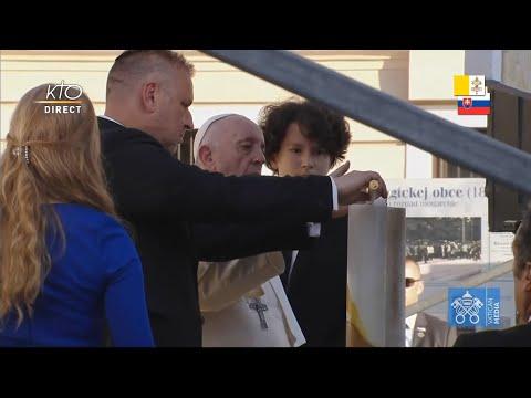 Rencontre du pape François avec la communauté juive de Bratislava