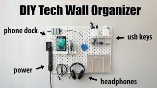 DIY Tech Wall Organizer - IKEA Skadis