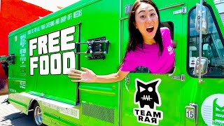WE OPENED A FREE FOOD TRUCK!!
