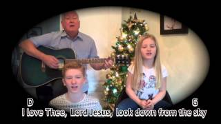 Away In A Manger - Christmas carol - easy chords guitar lesson - on-screen chords and lyrics