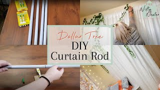 Dollar Tree DIY Curtain Rods | Dorm Room DIY Curtain Rods | Dollar Tree DIY Dorm Decor