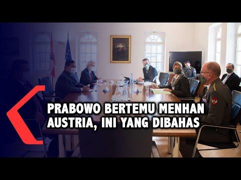 prabowo subianto bertemu menhan austria ini yang dibahas
