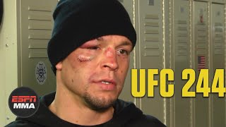 Nate Diaz upset about stoppage due to cut vs. Jorge Masvidal | UFC 244 | ESPN MMA