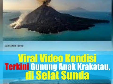 Video Drone Kondisi Terkini Gunung Anak Krakatau, Puncak Kawah Hilang