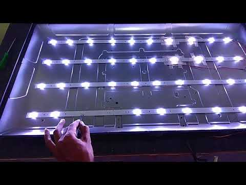 LCD LED TV Backlight Repair  - No Picture, Blank Screen - Replace LED Strips & Single LED Repair
