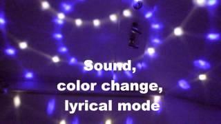 HML QS-607R 20W 160lm 8-LED RGB Crystal Magic Ball Light w/ Remote Control