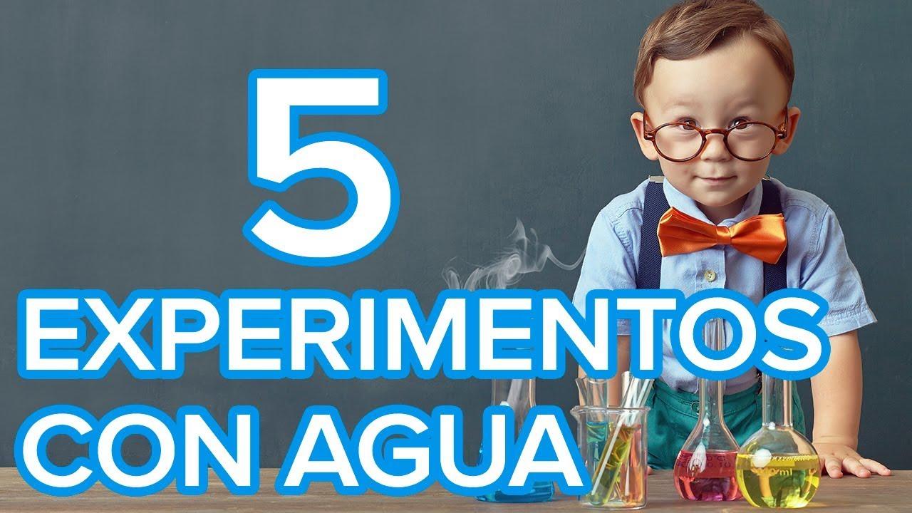 5 experimentos con agua para niños | Ciencia divertida