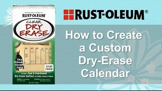 Create a Custom Dry-Erase Calendar