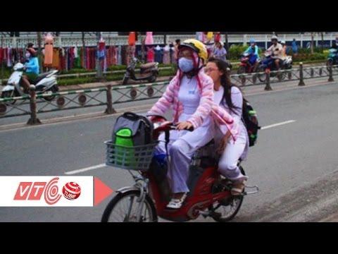 Đi xe đạp điện, xe máy điện phải đội nón bảo hiểm