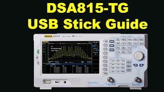 Using A USB Stick With A Rigol DSA815-TG