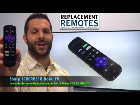 SHARP LCRCRUS18 ROKU TV Enhanced Remote Control