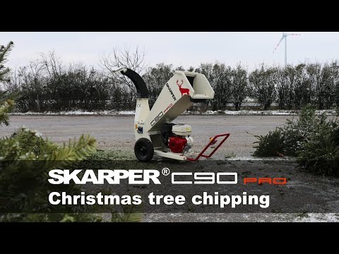 SKARPER® C90 PRO | Christmas tree chipping