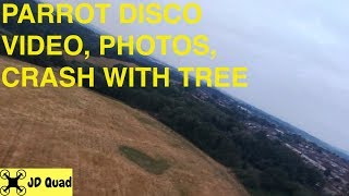 Parrot Disco FPV Flight Photos and Crash Flight Test Video Part 2