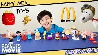 Peanuts Movie McDonald's Happy Meal Toys 2015 - Pierce'sWorld