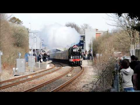 LNER 60163 'Tornado' on 'The Devon Belle' at Axminster 2nd A…