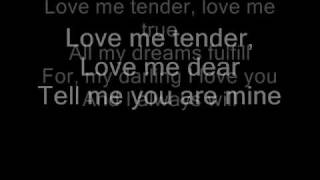 Love Me Tender By Norah Jones Lyrics