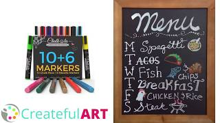 DIY Chalk Menu | Chalkboard Art Tutorial