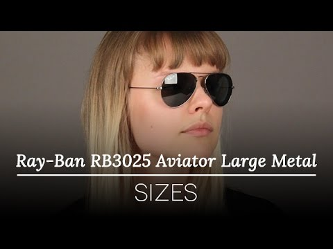 Ray-Ban Sunglasses Review – Ray Ban RB3025 Aviator Large Metal Sunglasses Sizes