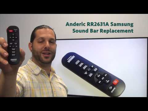 ANDERIC RR2631A for Samsung Sound Bar System Remote Control