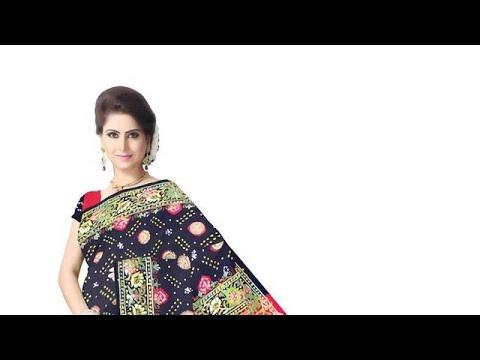 Kasab Work Design Gaji Silk Bandhani Saree