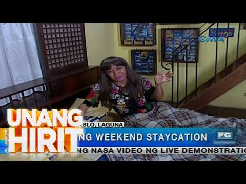 [GMA]  Unang Hirit:  Relaxing Weekend Staycation sa San Pablo, Laguna