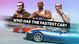 GTA 5 | Which MAIN CHARACTER has the FASTEST CAR?