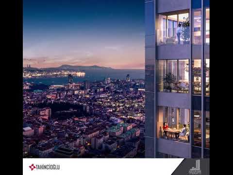 Nidapark Bomonti'nin seyir terasından İstanbul manzarası