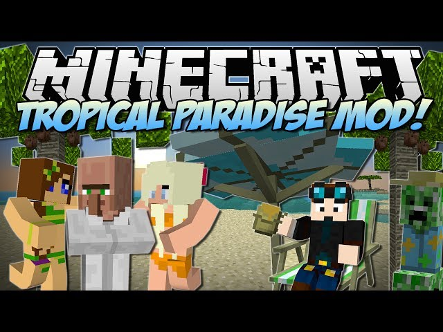 Minecraft | TROPICAL PARADISE MOD! (TropiCreepers, Fancy Fish & Tons More!) | Mod Showcase