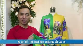 Áo dài Đỗ Trịnh Hoài Nam chất liệu vải Lụa Tơ