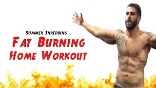 15 Minute Real-Time Fat Burning Home Workout - No Equipment Needed by TheZeusFitness