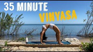 30 Minute Vinyasa Flow l Heart Opening Yoga with Urdhva Dhanurasana (Upward Facing Bow)