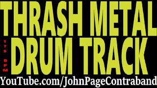 Thrash Metal Drum Track Drums Only Backing Track