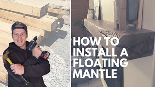 How To Install a Floating Mantle / Floating Shelf