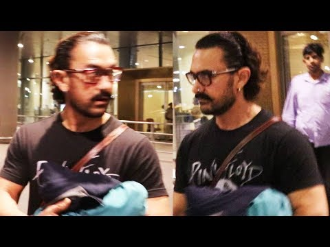 Aamir Khan Spotted At Mumbai International Airport | Bollywood Events